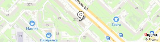 Ветеринарная клиника доктора Волкова на карте Липецка