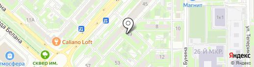 Трубка мира на карте Липецка