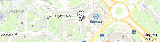 Маргарита на карте Липецка