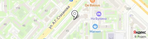 Веломоторс на карте Липецка