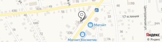 Маска на карте Чалтыря