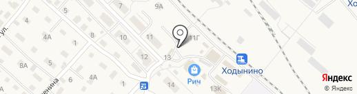 Магазин посуды и постельного белья на карте Рыбного