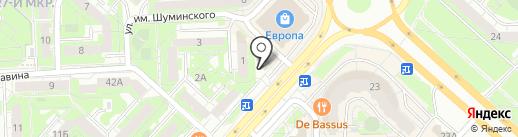Стаханов на карте Липецка