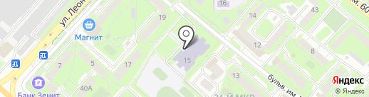 Средняя общеобразовательная школа №33 им. П.Н. Шубина на карте Липецка