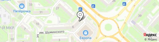 Хмельник на карте Липецка