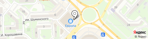 С иголочки на карте Липецка