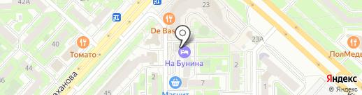 Каста на карте Липецка