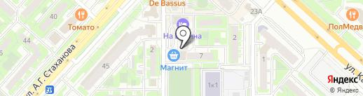 Лечебно-диагностический центр №1 на карте Липецка