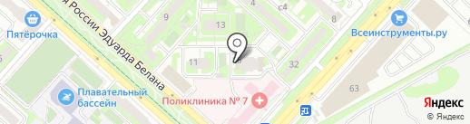 Деларина на карте Липецка