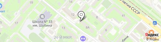 Фотоцентр на бульваре Шубина на карте Липецка