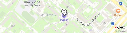 Петровская на карте Липецка