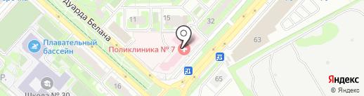 Лечебно-реабилитационный центр на карте Липецка
