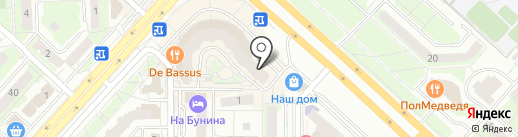 Тиккурила на карте Липецка