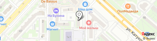 Элис на карте Липецка