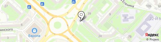 Караван на карте Липецка