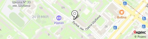 Хмель на карте Липецка