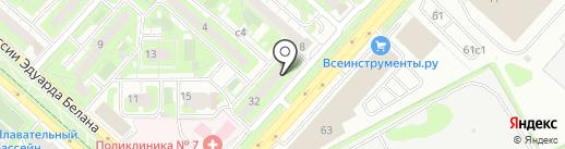 Чёлка на карте Липецка