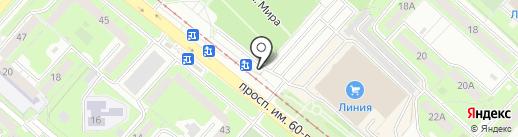 Автостоянка на карте Липецка