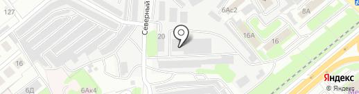 Лесное на карте Липецка