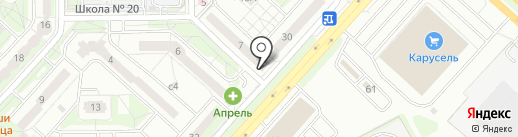 Общественная баня на карте Липецка