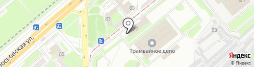 Липецкпассажиртранс, МУП на карте Липецка