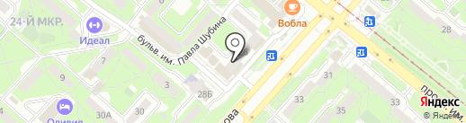 Ф+ на карте Липецка
