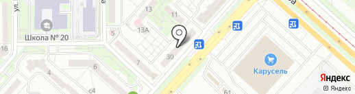 Ателье на ул. Меркулова на карте Липецка