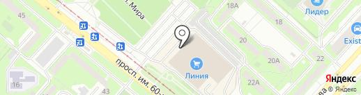 Декор на карте Липецка