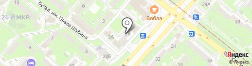 М3-дизайн на карте Липецка