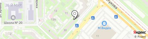 Валенсия на карте Липецка