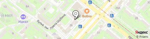 Фасон на карте Липецка