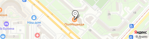 ПолМедведя на карте Липецка