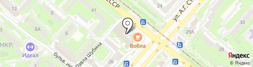 Приятель на карте Липецка