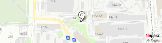 БИС на карте Липецка