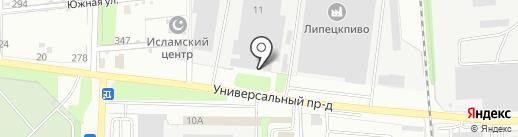 Росинка на карте Липецка