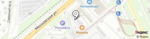 Маликов А.Е. на карте Липецка
