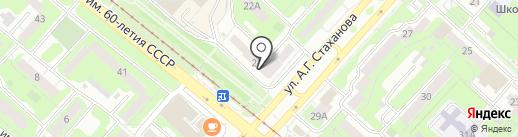 Магазин автозапчастей на карте Липецка