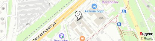 Светофор-Леди на карте Липецка