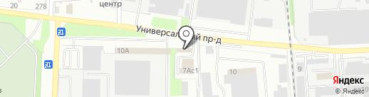 Автомойка48 на карте Липецка