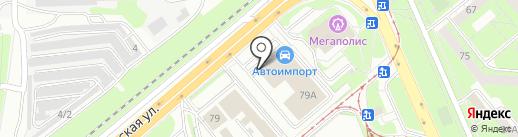 Липецкие автомобили на карте Липецка