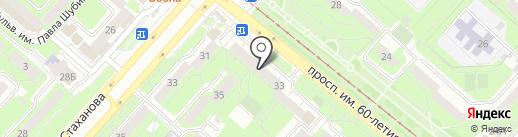 Подкаблучник на карте Липецка