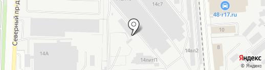 Склад-магазин шин на карте Липецка