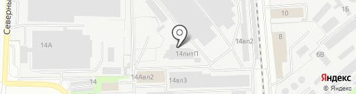 Табия на карте Липецка