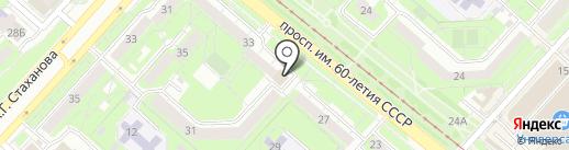Почтовое отделение №36 на карте Липецка