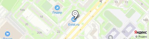 Красна изба на карте Липецка