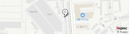 Липторг на карте Липецка