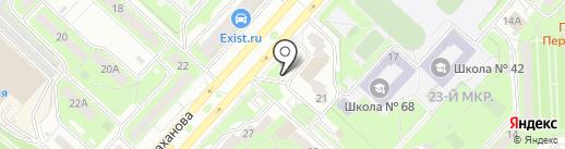 Аксель на карте Липецка