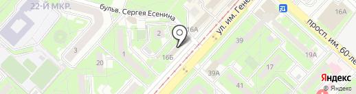 Патрис на карте Липецка