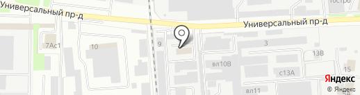 ИНТЭК на карте Липецка