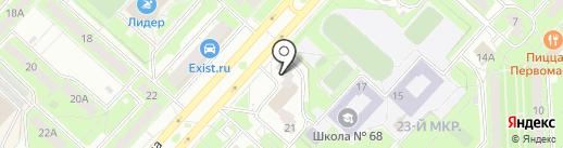 Лиза на карте Липецка